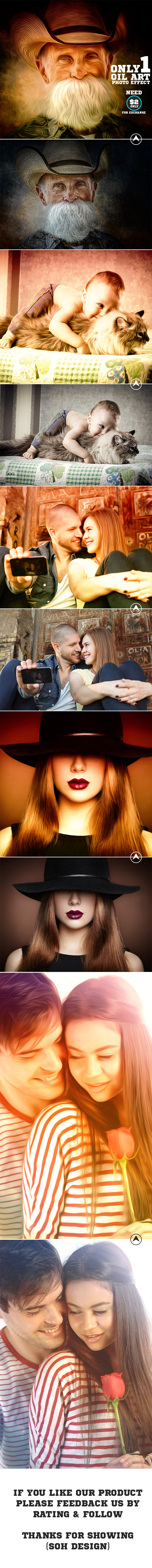 Oil Paint Photo Effect - Photo Effects Actions
