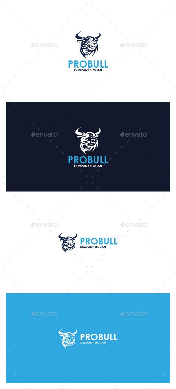 Pro Bull Logo - Animals Logo Templates