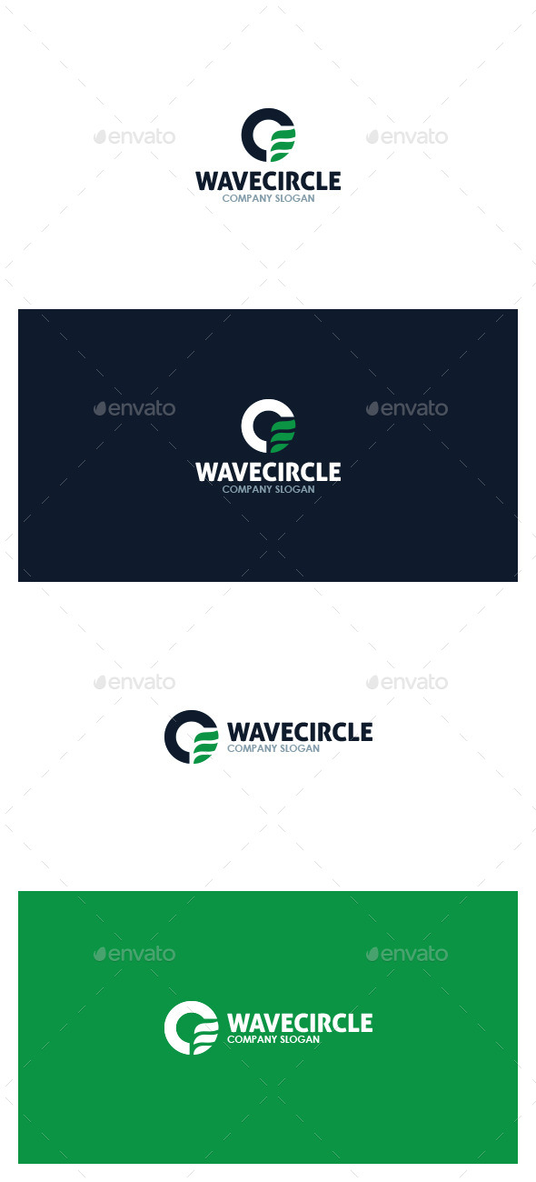 Wave Circle Logo - Symbols Logo Templates