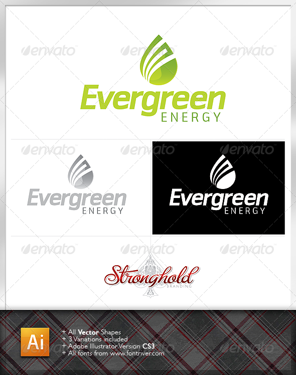 Evergreen Energy Logo - Nature Logo Templates