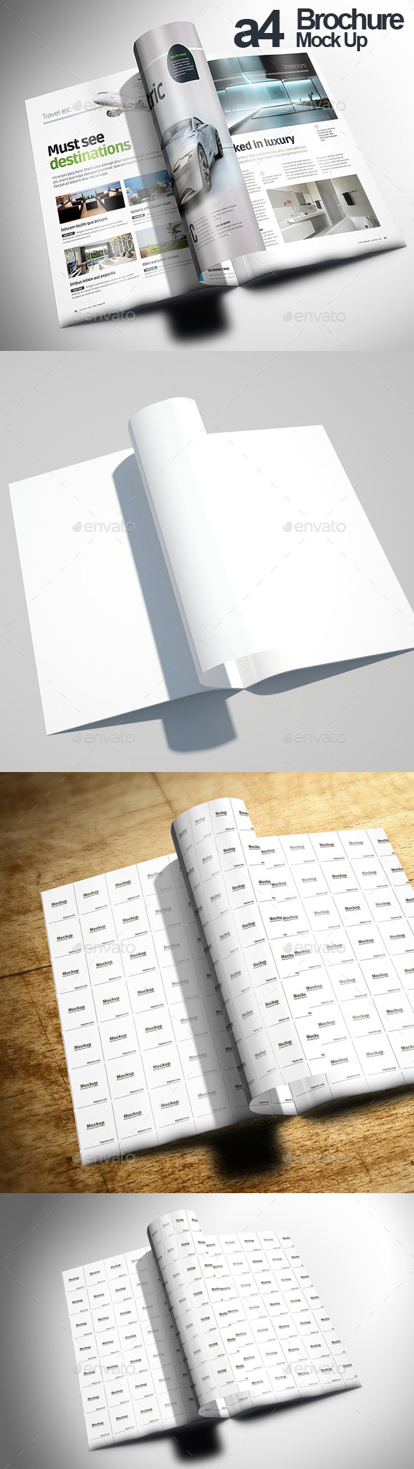 A4 Creative Brochure Mock Up - Brochures Print