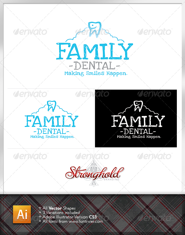 Family Dentistry Logo - Crests Logo Templates