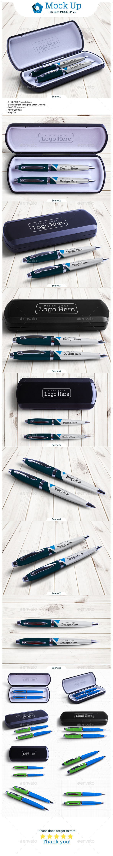 Pen Box Mock Up V.2 - Miscellaneous Product Mock-Ups
