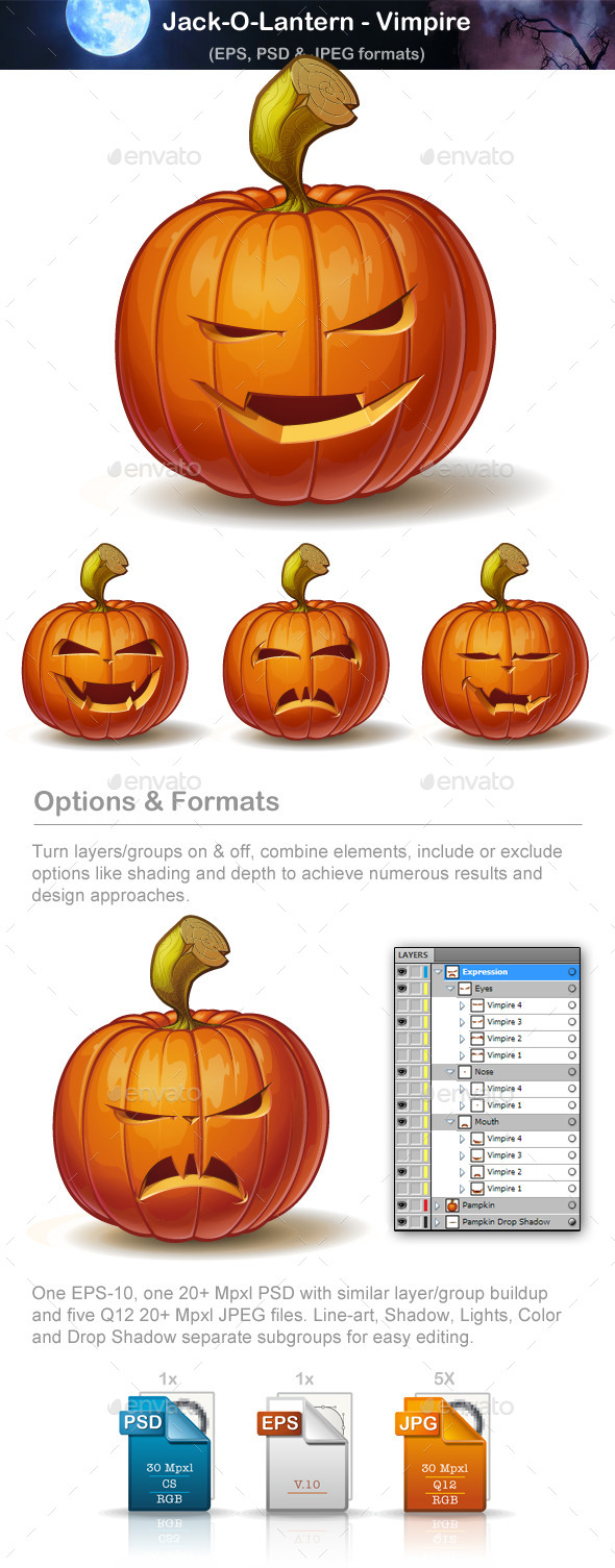 Jack-o-Lantern - Vimpire - Halloween Seasons/Holidays