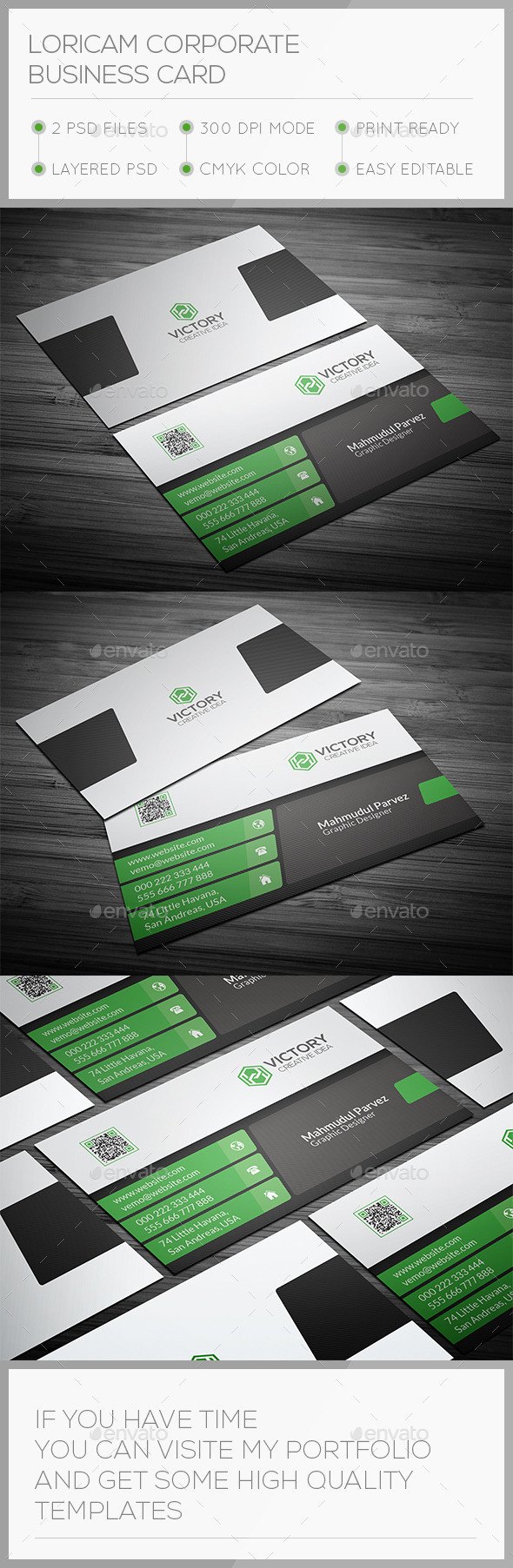 Loricam Corporate Business Card - Corporate Business Cards