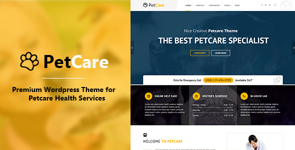 PetCare – Responsive WordPress Theme