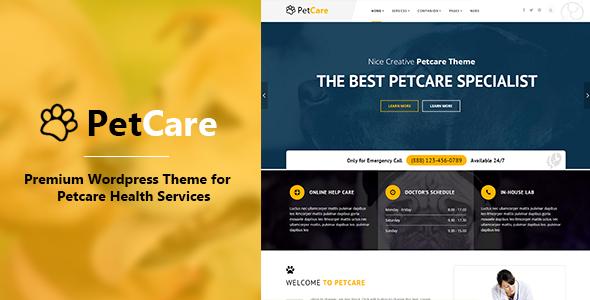 PetCare – Responsive WordPress Theme
