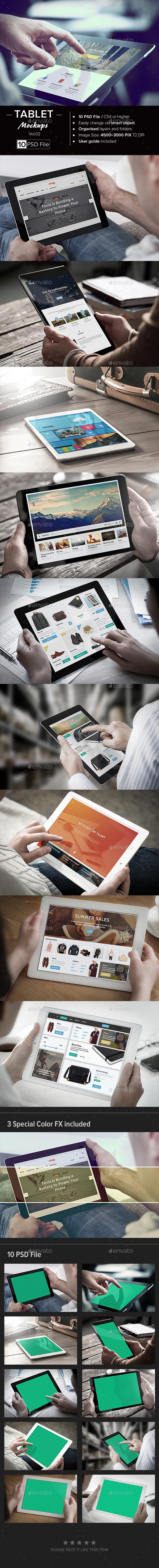 Tablet Mock-Up /Vol. 02 - Mobile Displays