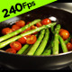 Frying Tomatoes and Asparagus - VideoHive Item for Sale