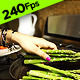 Dropping Asparagus into Frying Pan - VideoHive Item for Sale