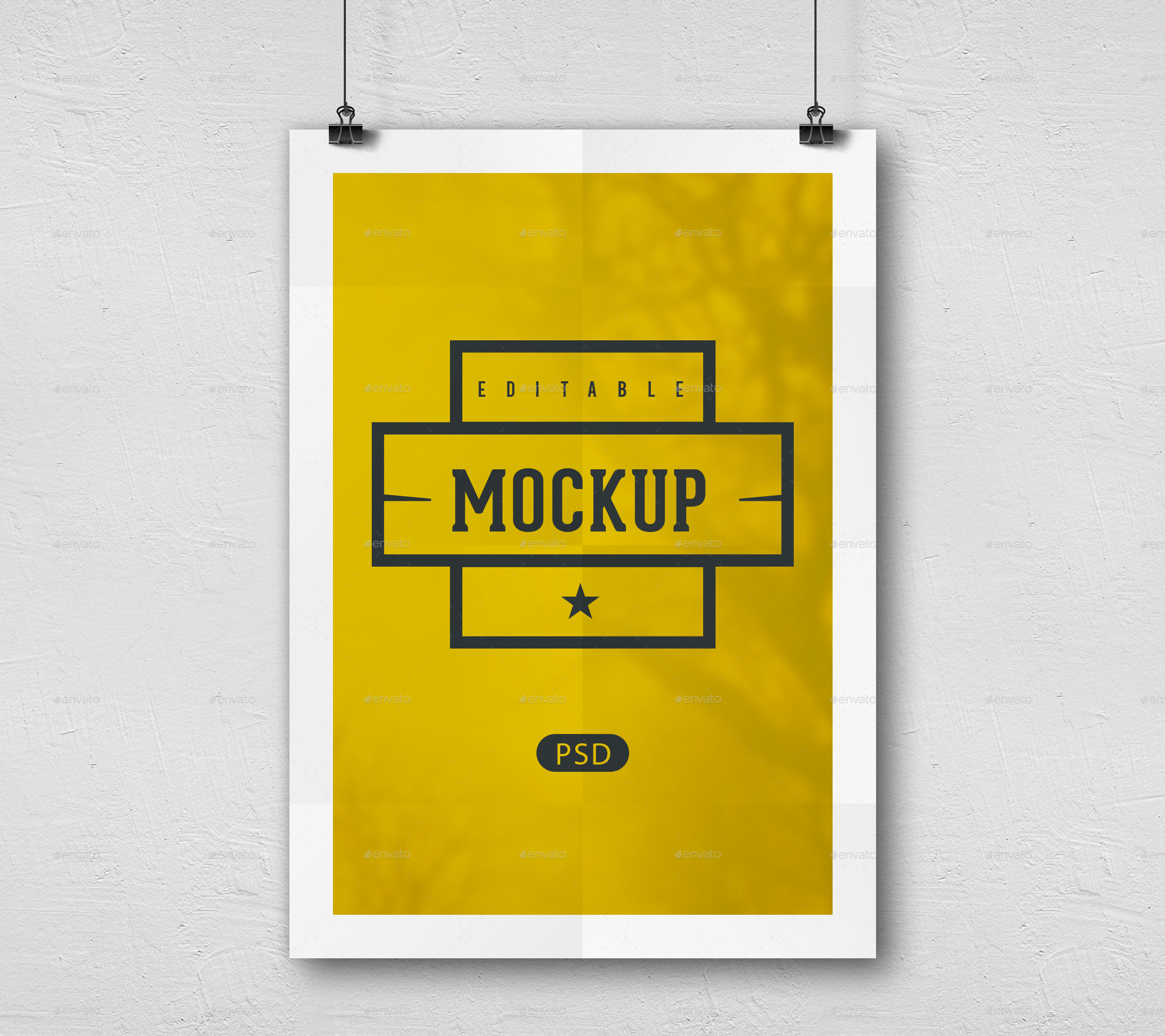 Poster Mockups By Wecangraphic Graphicriver