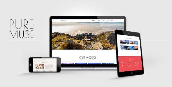 Puremuse: OnePage Muse Template for Portfolios & Creatives