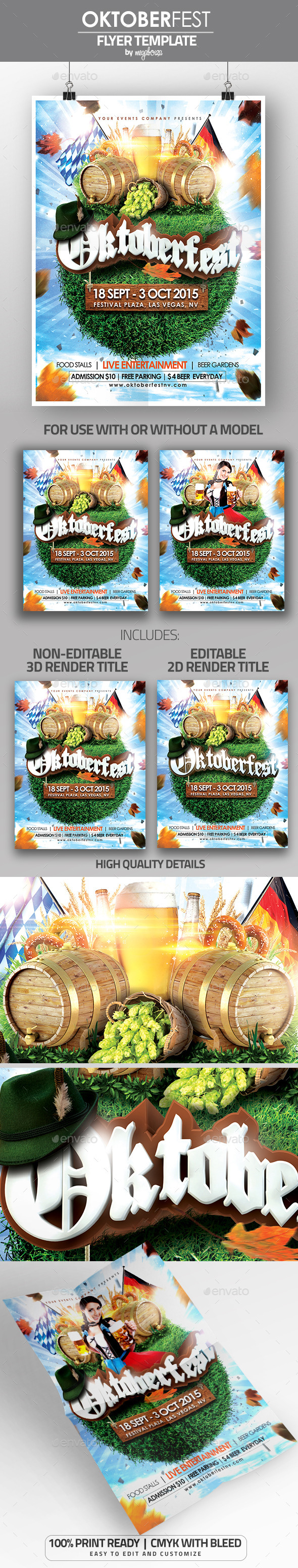 Oktoberfest Flyer / Poster Template - Events Flyers