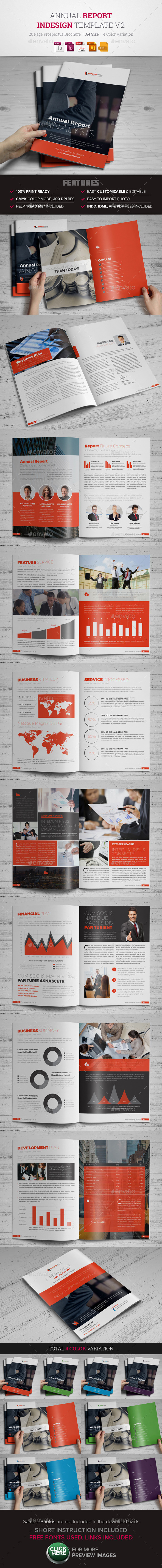 Annual Report InDesign Template v2  - Corporate Brochures