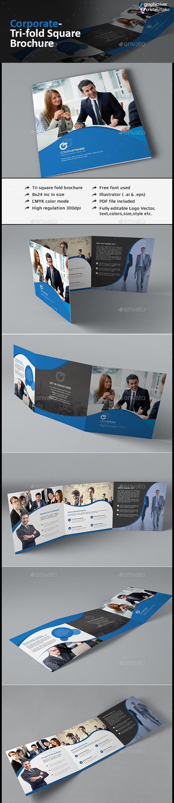 Tri-fold Square Brochure - Corporate Brochures