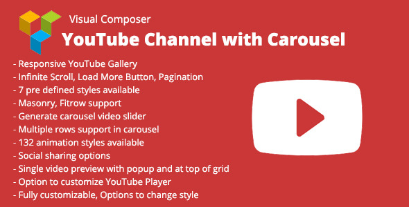 Visual Composer YouTube Channel with Carousel