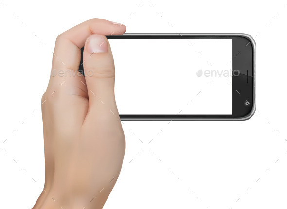 Hand Holding Phone - Technology Conceptual