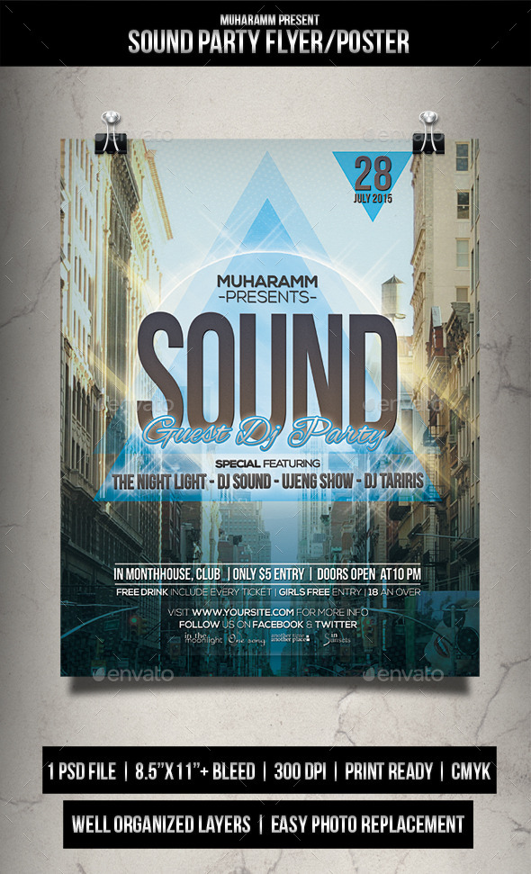 Sound Party Flyer Poster