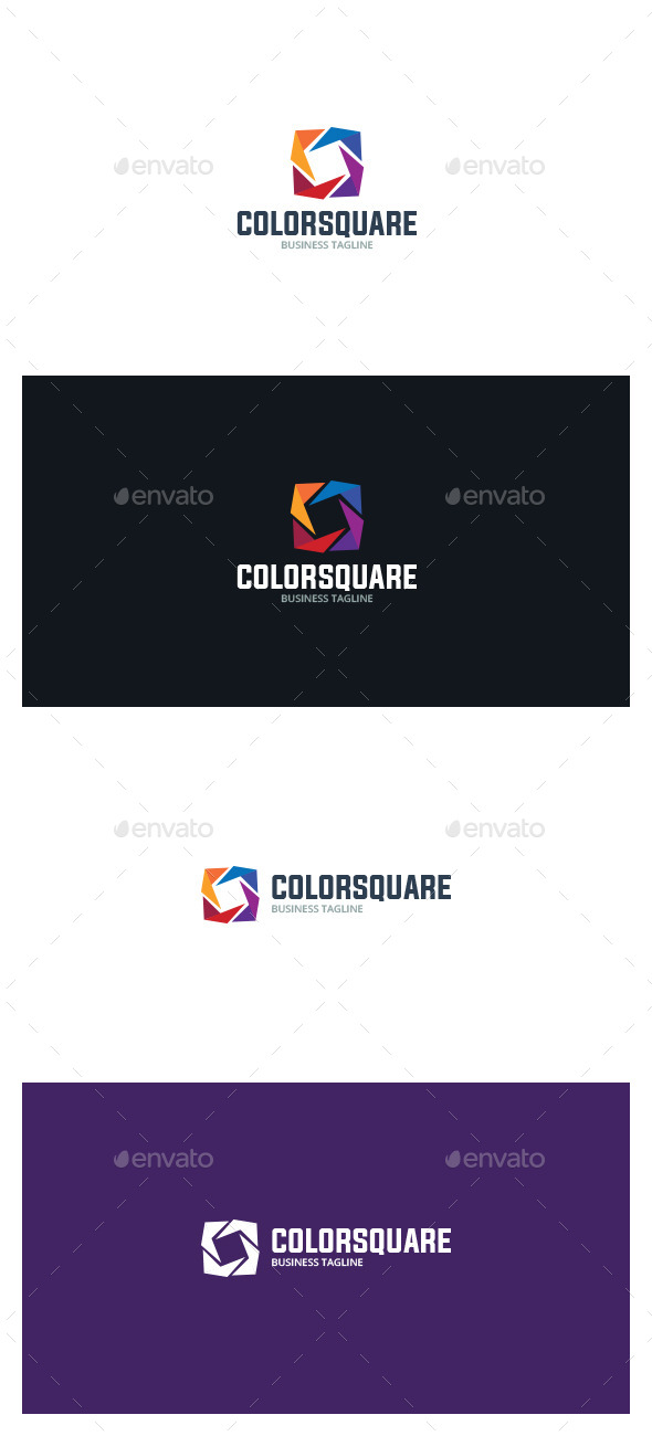 Color Square Logo - Symbols Logo Templates