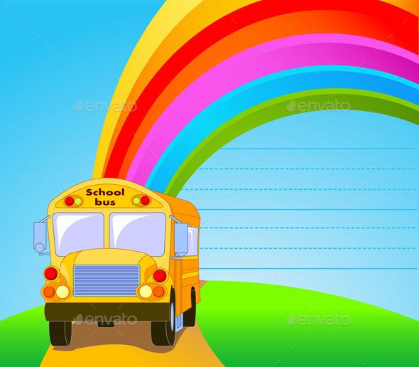 Yellow School Bus - Travel Conceptual