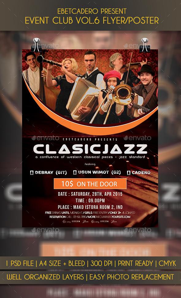 Clasic Jazz Event flyer Poster Vol.1