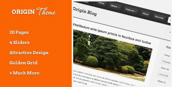 Free Download Origin HTML Theme Nulled Latest Version