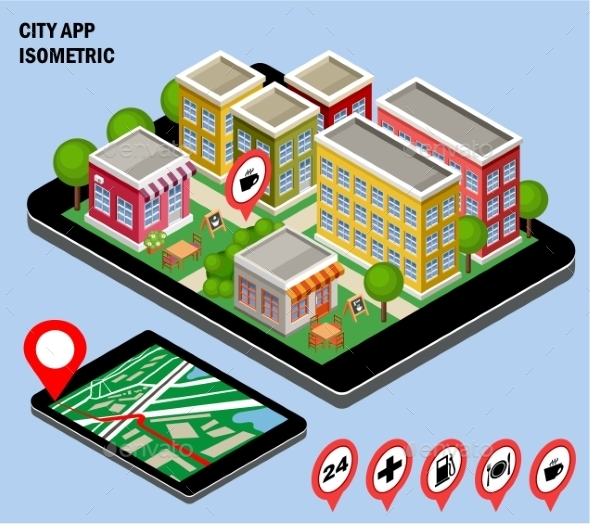 City Navigation App - Buildings Objects