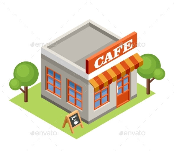 Isometric Cafe - Buildings Objects