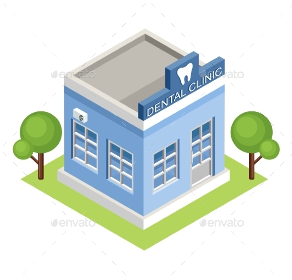 Isometric Dental Clinic - Buildings Objects