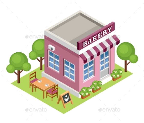 Isometric Bakery - Buildings Objects