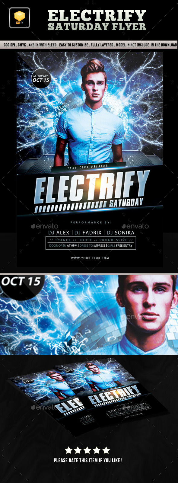 Electrify Saturday Flyer - Clubs & Parties Events
