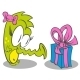 Little Dragon with Gift - GraphicRiver Item for Sale