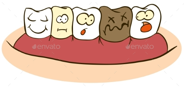 Damaged Tooth - Health/Medicine Conceptual