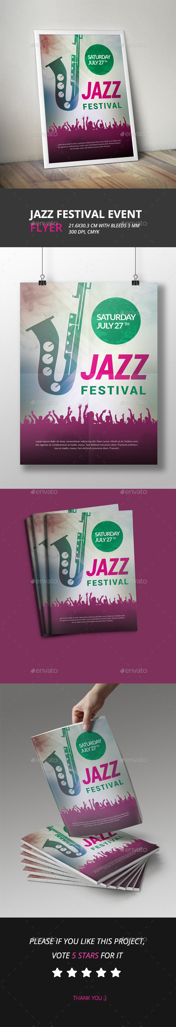 Jazz Festival Event Flyer - Clubs & Parties Events