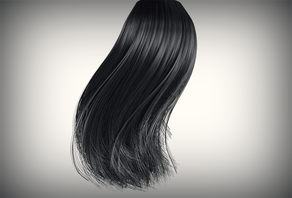 Black Hair - 3DOcean Item for Sale