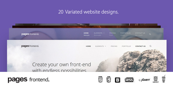Pages – Multi-Purpose HTML5 Website Template