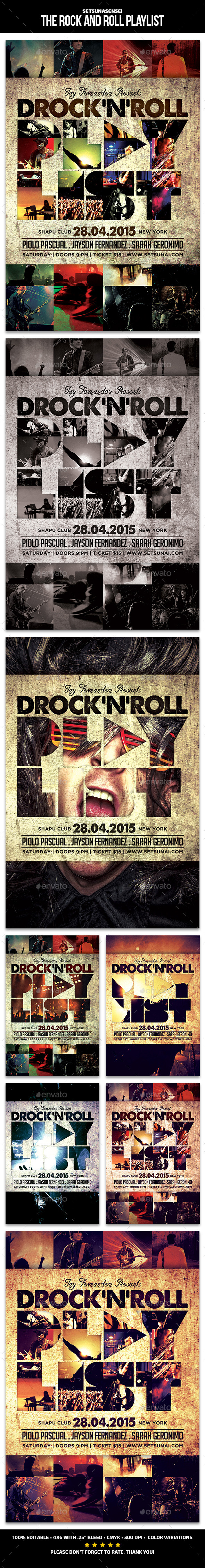 The Rock and Roll Playlist Flyer