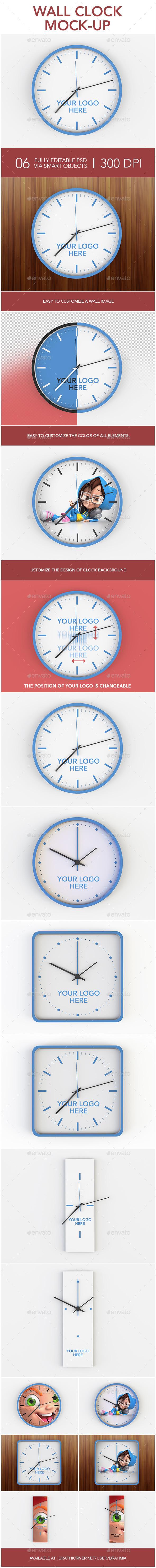 Wall Clock Mock-up - Miscellaneous Print