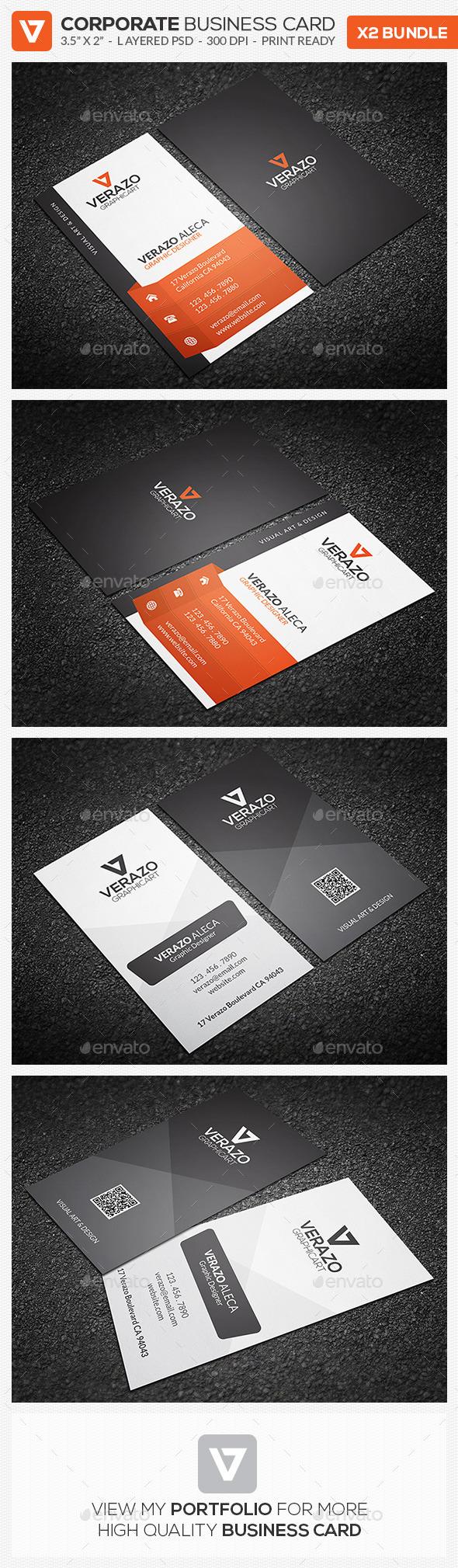 Business Card Bundle 21 - Corporate Business Cards