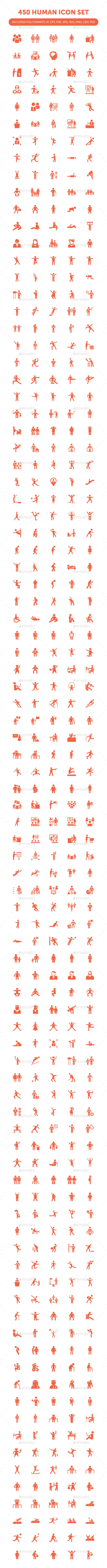 450 Human Icon Set - Characters Icons