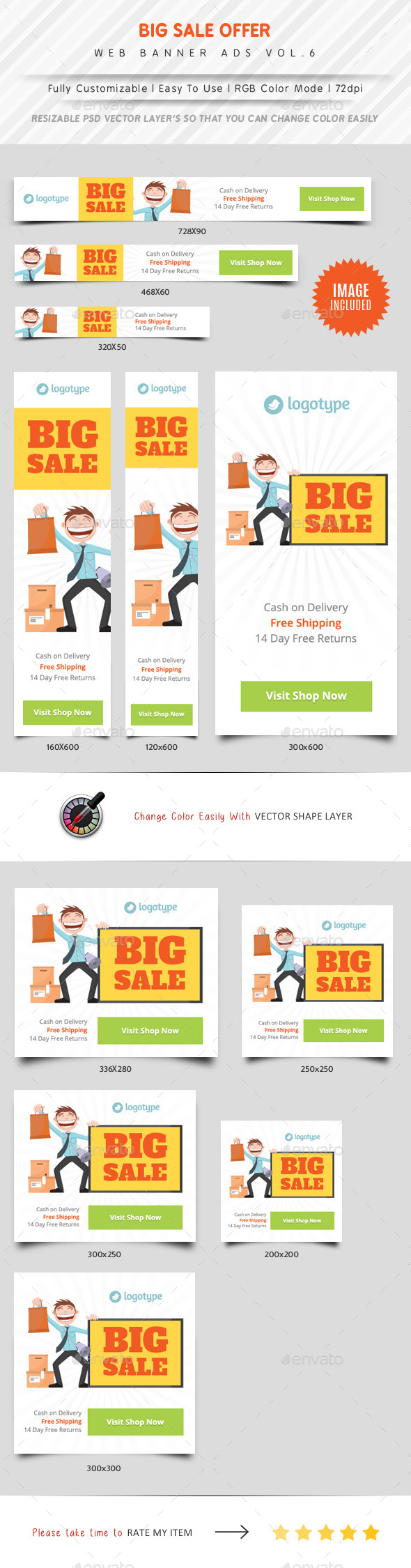 Big Sale Web Banner Ads Vol.6 - Banners & Ads Web Elements