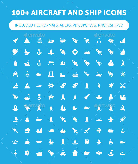 100+ Aircraft and Ship Icons - Icons