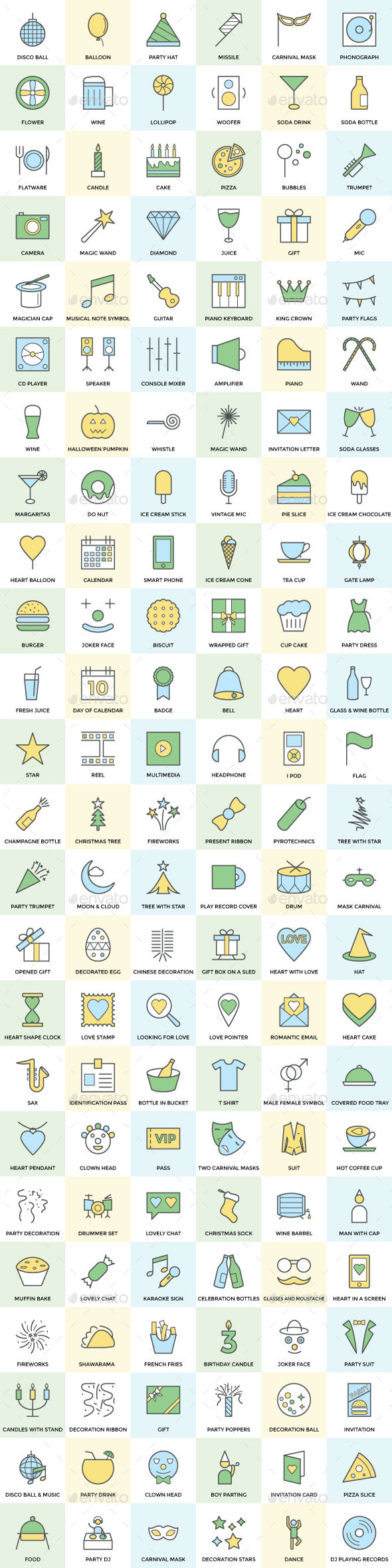 125+ Party and Celebration Icon - Icons