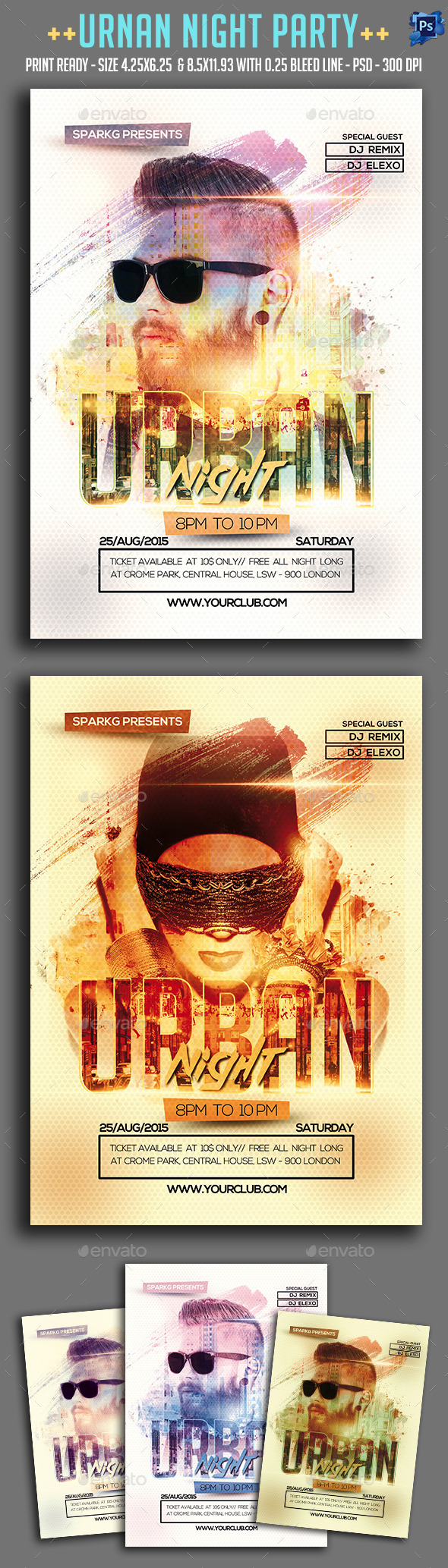 Urban Night Party Flyer - Clubs & Parties Events