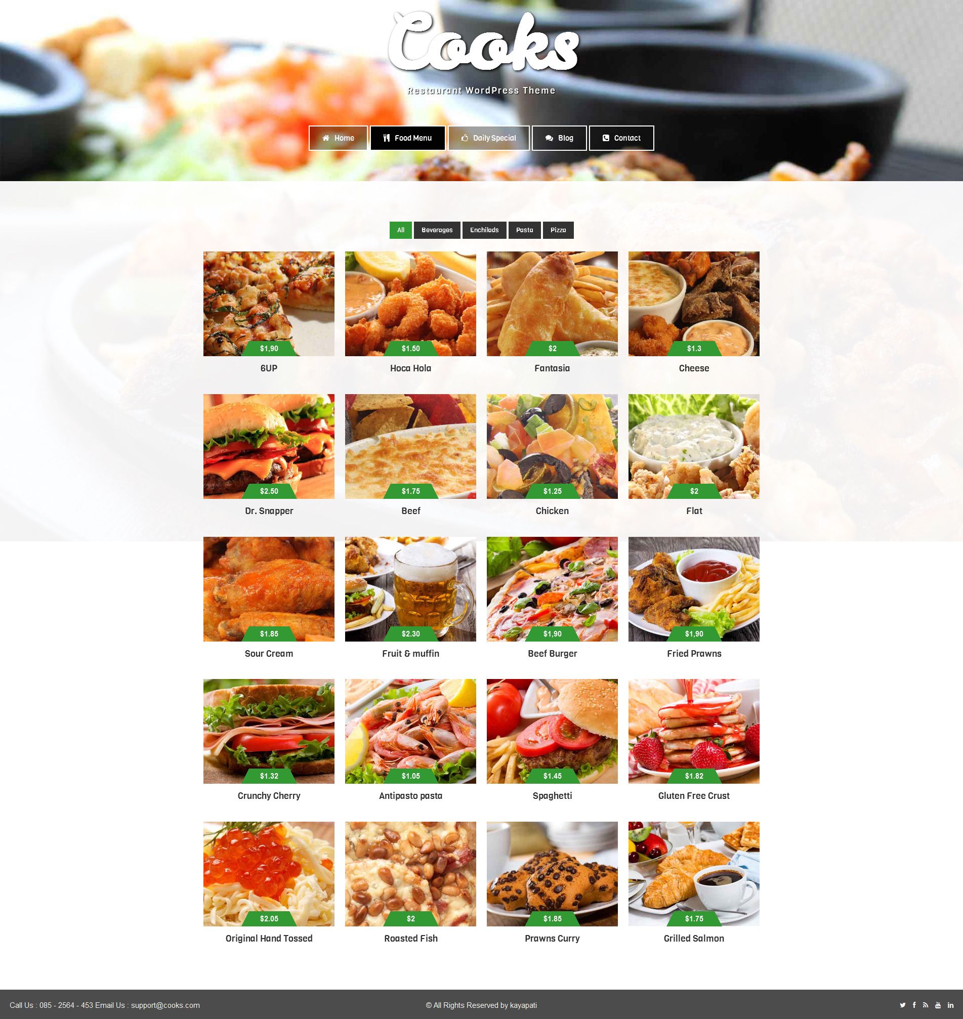 Cooks Restaurant Responsive HTML Template By VenishaIT ThemeForest - Html restaurant menu template