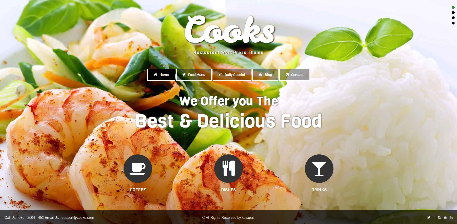 cooks restaurant responsive html template by venishait themeforest