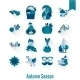 Set Of Flat Autumn Icons - GraphicRiver Item for Sale