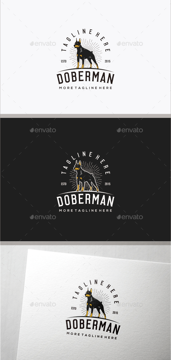 Doberman Logo Tempalte - Animals Logo Templates