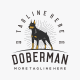 Doberman Logo Tempalte - GraphicRiver Item for Sale