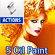 5 Oil Paint Action For Photographer And Designer - GraphicRiver Item for Sale